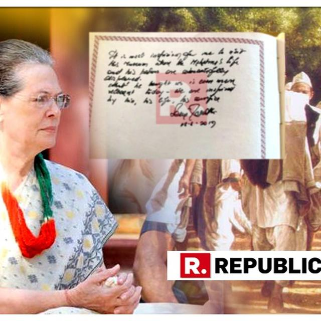 WHAT SONIA GANDHI WROTE IN SABARMATI ASHRAM VISITORS' BOOK