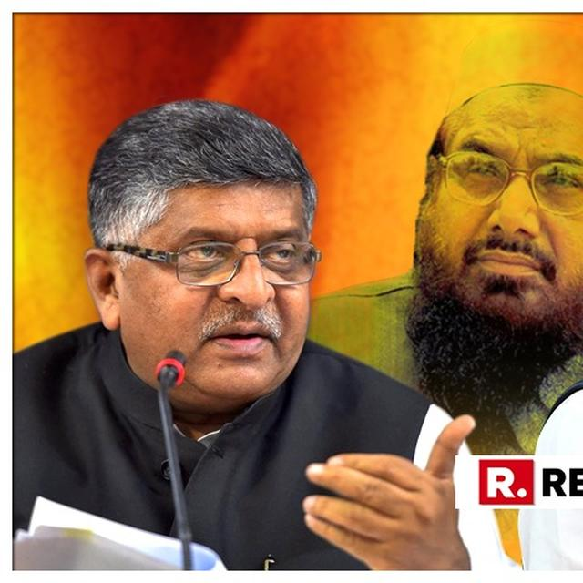 CONGRESS COUNTERS BJP ON RAHUL GANDHI'S 'MASOOD AZHAR JI' COMMENT, RELEASES A VIDEO OF UNION MINISTER RAVI SHANKAR PRASAD SAYING 'HAFIZ JI'