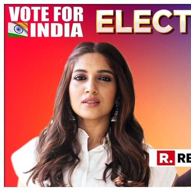 'EACH ONE OF US MUST BECOME A PART OF SHAPING THE FUTURE OF OUR COUNTRY', SAYS BHUMI PEDNEKAR TO PM MODI'S 'VOTE FOR INDIA' ELECTION 2019 CLARION CALL