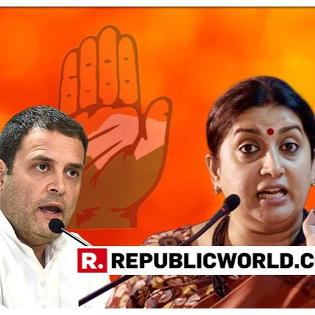 WATCH: 'WHAT'S YOUR RELATIONSHIP WITH CC THAMPI AND HL PAHWA' IS THE FIRST OF UNION MINISTER SMRITI IRANI'S THREE DIRECT QUESTIONS TO RAHUL GANDHI. HERE ARE THE OTHERS