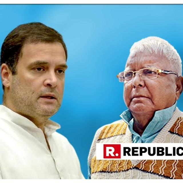 "SCOOP | LALU PRASAD YADAV THREATENS CONGRESS OF A ""FRIENDLY FIGHT"" AFTER A TUG OF WAR SITUATION EMERGES BETWEEN BIHAR OPPOSITION AHEAD OF SEAT-SHARING ANNOUNCEMENT: SOURCES"