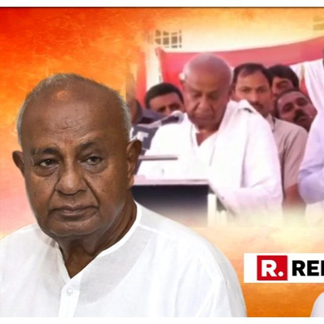 """WATCH: HD DEVE GOWDA, GRANDSON PRAJWAL BREAKS DOWN OVER ALLEGATIONS OF DYNASTY POLITICS, BJP CALLS IT """"FIRST DRAMA FOR THE 2019 ELECTIONS"""""""