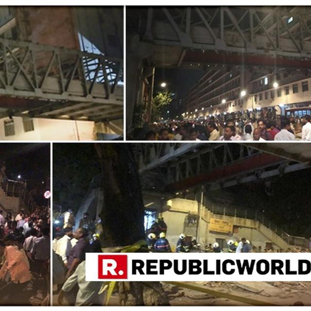 MUMBAI POLICE FILES FIR AGAINST UNKNOWN BMC, RAILWAYS OFFICIALS FOR FOOTOVER BRIDGE COLLAPSE NEAR THE CSMT STATION