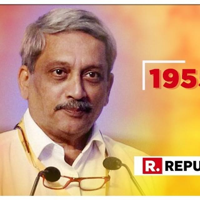 GOA CHIEF MINISTER MANOHAR PARRIKAR PASSES AWAY AT 63, TRIBUTES POUR IN