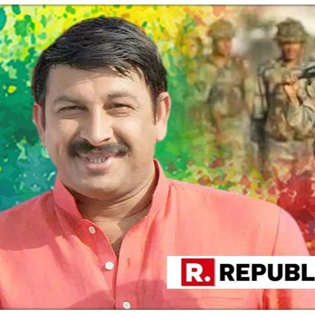 BJP DELHI CHIEF MANOJ TIWARI DEDICATES HIS HOLI TO THE ARMED FORCES, SINGS A SONG AS A TRIBUTE FOR THEM