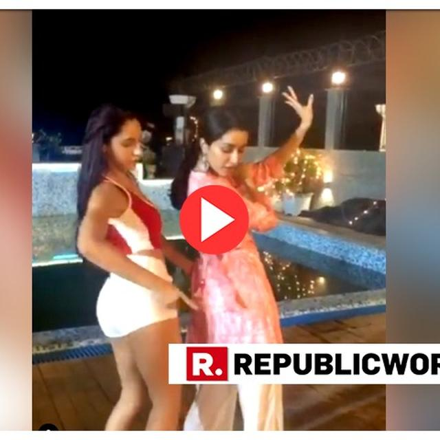 WATCH: AFTER DANCE-OFF WITH VARUN DHAWAN, NORA FATEHI BECOMES SHRADDHA KAPOOR'S TEACHER AS 'DILBAR' FAD CONTINUES