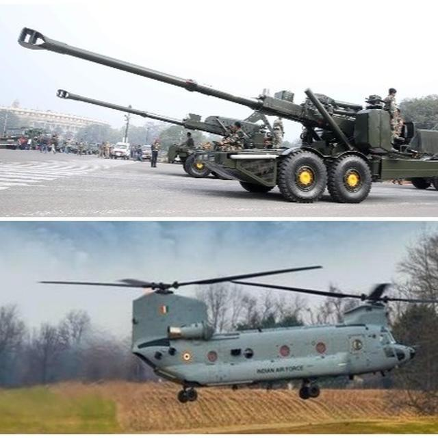 ARMY TO INDUCT DHANUSH ARTILLERY GUNS, AIR FORCE TO COMMISSION HEAVY-LIFT CHINOOK CHOPPERS IN SERVICE NEXT WEEK