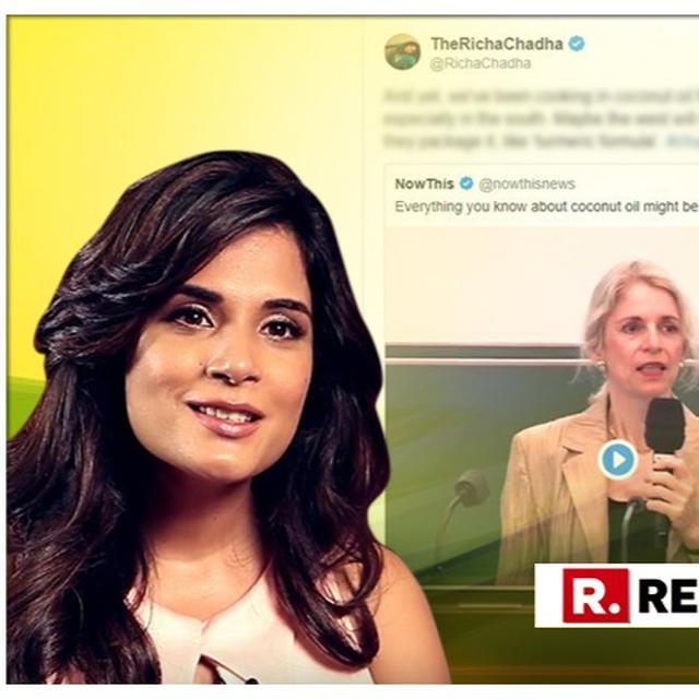 RICHA CHADHA SHUTS DOWN HARVARD PROFESSOR WHO CALLED COCONUT OIL 'PURE POISON'. HERE'S HOW SHE DID IT