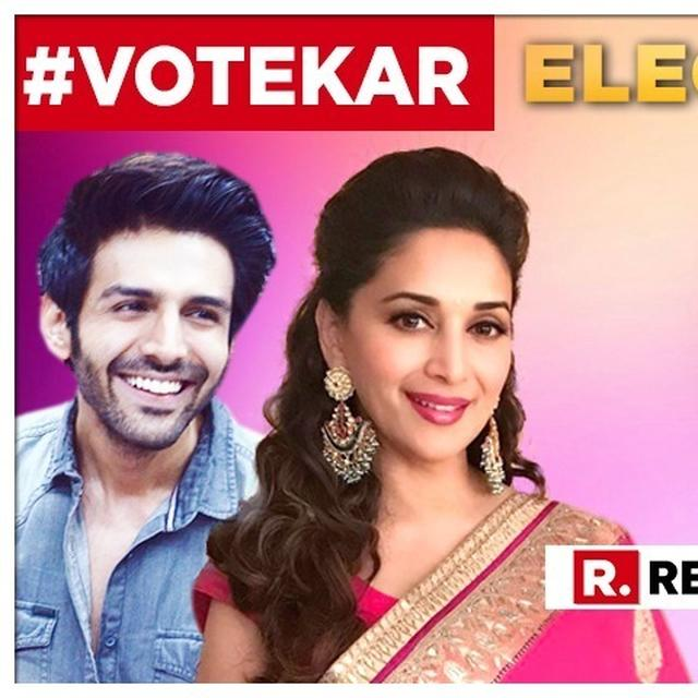 'LIKE EVERY DROP MAKES THE OCEAN, EACH VOTE CREATES THE GOVERNMENT': KARTIK AARYAN, MADHURI DIXIT NENE SUPPORT PM MODI'S 'VOTE KAR' CAMPAIGN