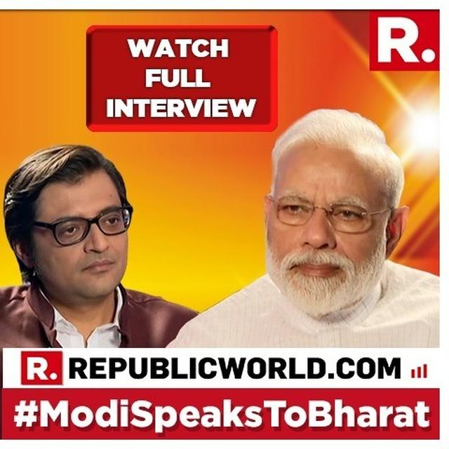 FULL PM MODI INTERVIEW: WATCH PRIME MINISTER NARENDRA MODI'S FIRST 2019 LOK SABHA ELECTION INTERVIEW, AS HE SPEAKS TO ARNAB GOSWAMI ON REPUBLIC MEDIA NETWORK