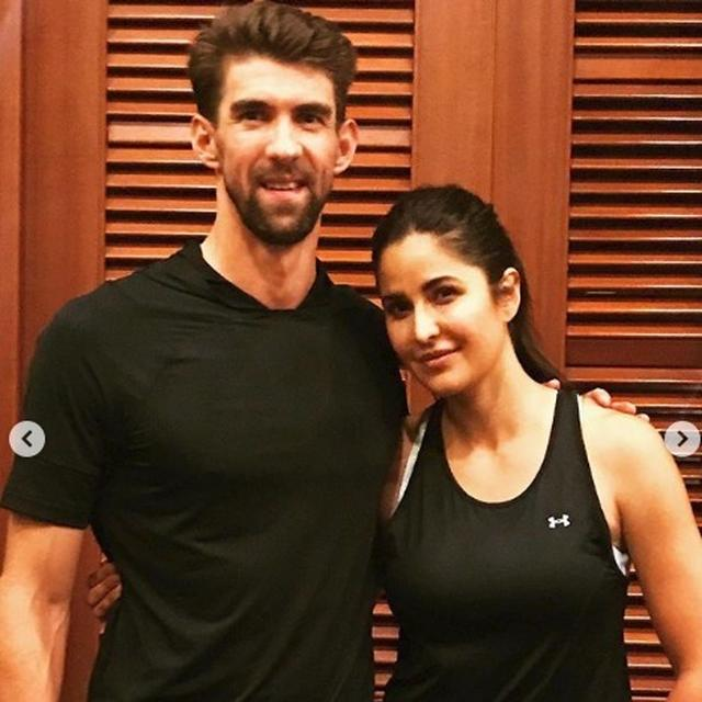 IN PICS | AFTER CATCHING AN IPL MATCH, MICHAEL PHELPS MEETS KATRINA KAIF AND THEY BONDED OVER THIS