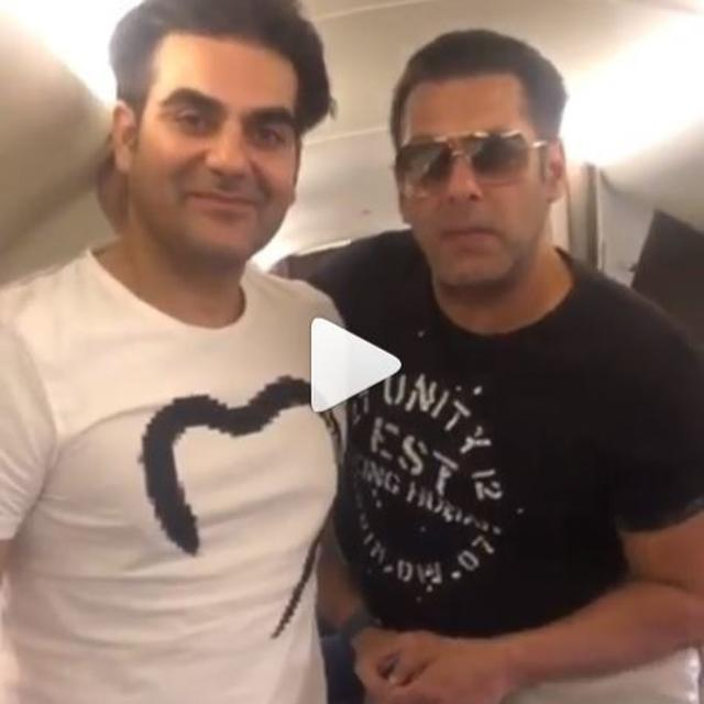 WATCH: SALMAN KHAN AND ARBAAZ KHAN'S BIG 'DABANGG 3' ANNOUNCEMENT DROPS FROM THE SKIES