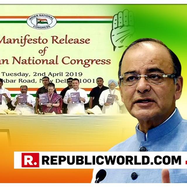 "WATCH | ""PROPOSAL TO AMEND CRPC MEANT TO SHIELD MAOISTS"": ARUN JAITLEY ON CONGRESS' 2019 MANIFESTO PROMISES"