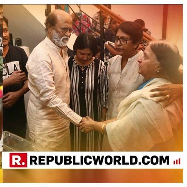 IN PICS | RAJINIKANTH BIDS ADIEU TO VETERAN FILMMAKER, 'PETTA' CO-STAR J MAHENDRAN; KAMAL HAASAN, VIJAY SETHUPATHI, OTHERS TOO PAY LAST RESPECTS
