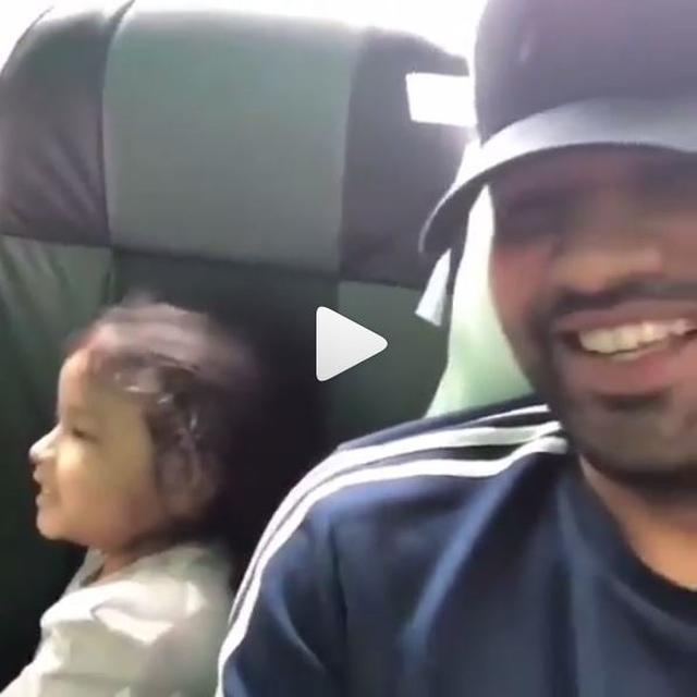 WATCH: ZIVA DHONI CHEERING FOR UNCLE ROHIT SHARMA'S MUMBAI INDIANS IS THE CUTEST THING ON INTERNET