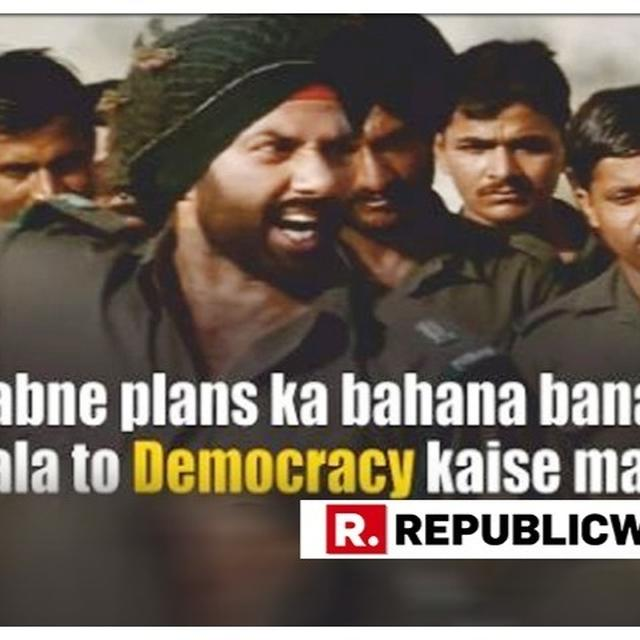 'PLANS CAN WAIT. VOTE FIRST' YELLS SUNNY DEOL'S MAJOR SINGH IN PIB'S BOLLYWOOD THEMED VOTING POST