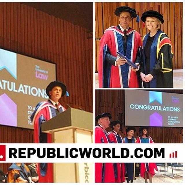 WATCH | SHAH RUKH KHAN FELICITATED WITH AN HONORARY DOCTORATE BY THE UNIVERSITY OF LAW, ACTOR'S ACCEPTANCE SPEECH GOES VIRAL