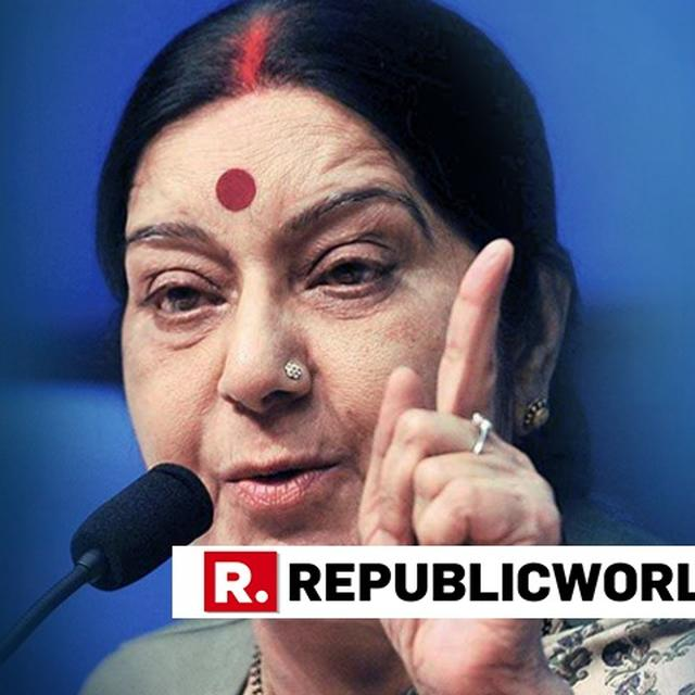 WHY ROAM WITH SPG IF TERROR ISN'T AN ISSUE?: SUSHMA TO RAHUL