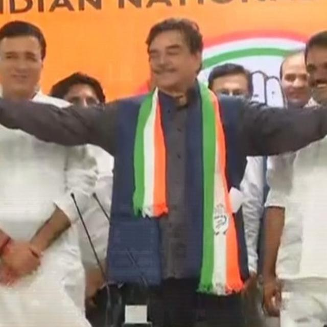 WATCH: SHATRUGHAN SINHA HAS 'BJP' SLIP-OF-TONGUE AT FORMAL CONGRESS INDUCTION, GIVES 'BJP FOUNDATION DAY' EXPLANATION