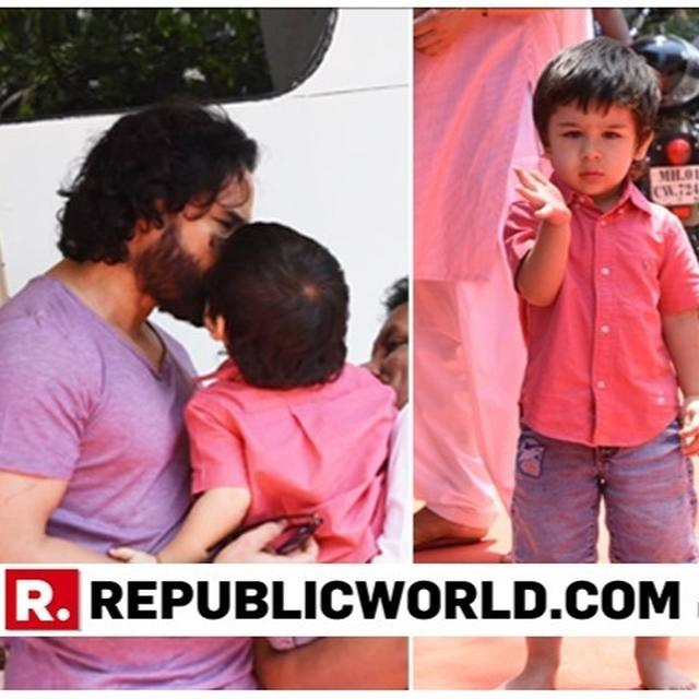 WATCH: TAIMUR ALI KHAN'S BABY TALK AND A GOODBYE-KISS FOR FATHER SAIF ALI KHAN WILL MELT YOUR HEART