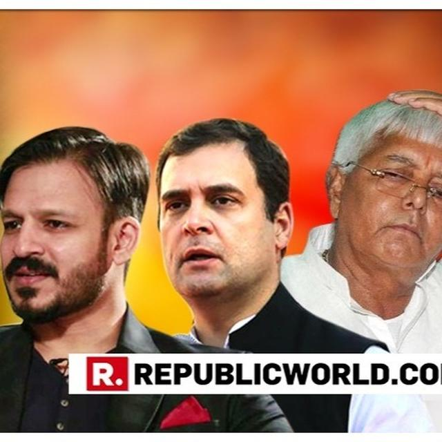 VIRAL: CITING LALU PRASAD, VIVEK OBEROI FIRES LOGICAL COUNTER TO RAHUL GANDHI OVER CONG'S 'PM NARENDRA MODI' BIOPIC STANCE