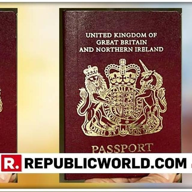 BRITAIN REMOVES 'EURPOEAN UNION' FROM ITS PASSPORT COVERS