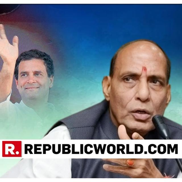 CONGRESS-DMK ALLIANCE AN UNHOLY PREPOSTEROUS ALLIANCE: RAJNATH