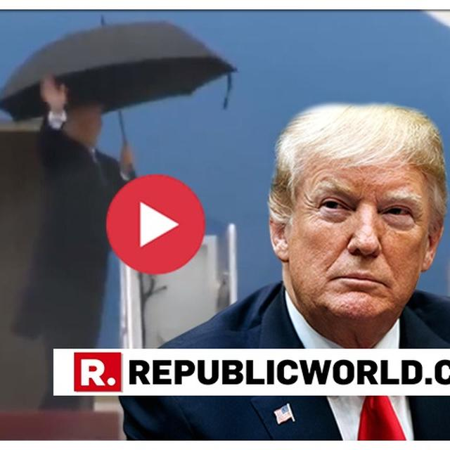 UNMISSABLE: DONALD TRUMP'S HEAD-SCRATCHING UMBRELLA MOMENT GOES VIRAL, NETIZENS SAY 'HE MISSED THE DAY IN 1ST GRADE WHEN THEY TAUGHT UMBRELLA CLOSING'