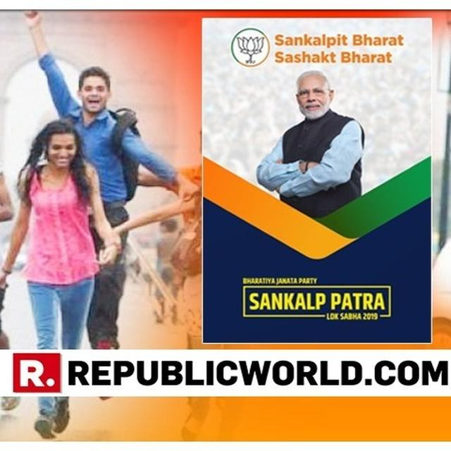 READ: BJP'S MANIFESTO PROMISES FOR THE YOUTH