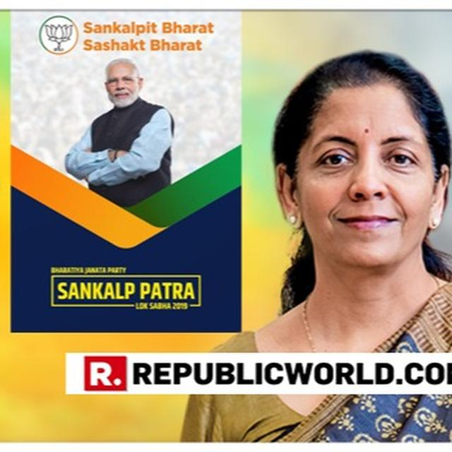 WATCH: NIRMALA SITHARAMAN SHOOTS DOWN NOTION OF BJP MANIFESTO PROMISE ON ABROGATING ARTICLE 370 BEING AN APPEASEMENT TACTIC