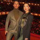 AMY JACKSON AND FIANCE GEORGE PANAYIOTOU'S ENGAGEMENT BASH TRIGGERS SPECULATION - WEDDING NOT FAR?