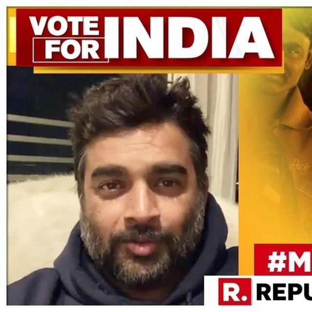 WATCH: 'TIME TO MAKE YOUR INTENT CLEAR,' R MADHAVAN SHARES A STRONG MESSAGE AS INDIA BEGINS VOTING FOR LOK SABHA ELECTIONS 2019
