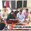 WATCH   UNION MINISTER SMRITI IRANI PERFORMS 'POOJA' BEFORE FILING NOMINATION AT AMETHI CONSTITUENCY IN UTTAR PRADESH