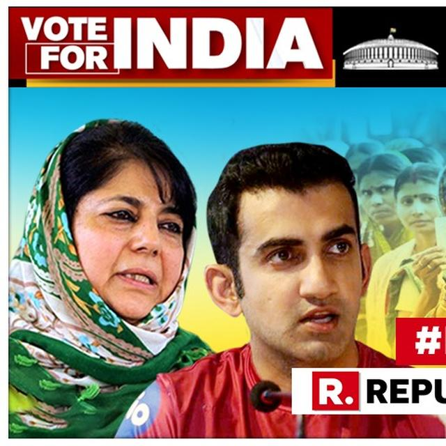 GAUTAM GAMBHIR BRINGS TWITTER SPAT WITH MEHBOOBA MUFTI TO THE STREETS, WARNS 'IF SHE DOESN'T FLOW WITH THE WAVE, SHE'LL DROWN'
