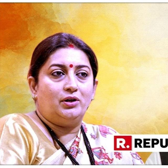 RAHUL HAS 'SPARE TIME' BUT STILL DID NOT DO ANYTHING IN AMETHI: SMRITI IRANI