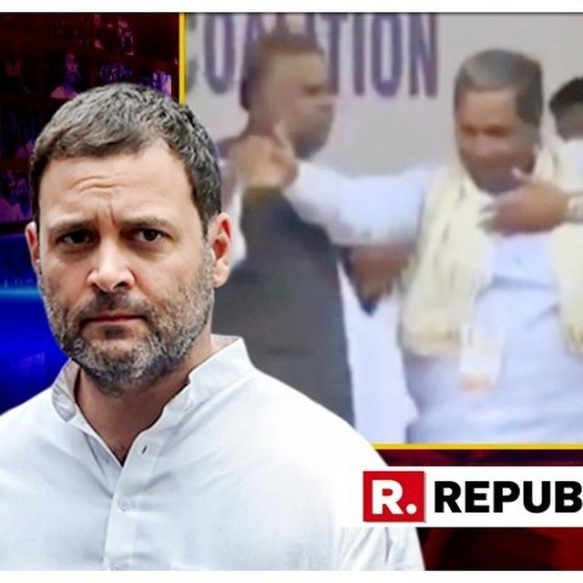 WATCH | 'DALIT LEADER PUSHED IN FRONT OF RAHUL' SAYS AMIT MALVIYA POSTING VIDEO OF SIDDARAMAIAH NUDGING AWAY FORMER SOCIAL WELFARE MINISTER