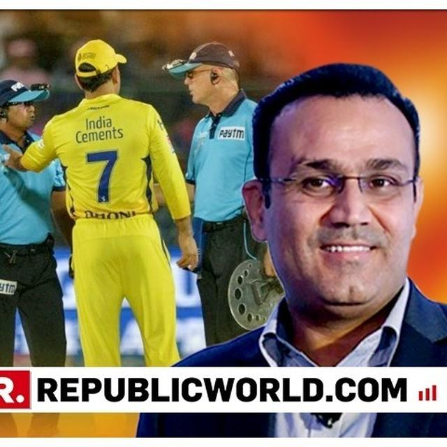 """I FEEL HE SHOULD HAVE BEEN BANNED FOR A FEW GAMES BY IPL TO SET AN EXAMPLE,"" SAYS VIRENDRA SEHWAG ON MS DHONI'S ON-FIELD ARGUMENT WITH UMPIRES"