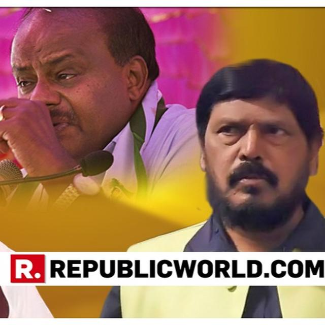"""FULL VIDEO: """"FOR KARNATAKA'S WELLBEING, KUMARASWAMY MUST JOIN NDA"""", SAYS UNION MINISTER ATHAWALE AMID RUMOURS OF NDA REACH OUT TO JD(S)"""