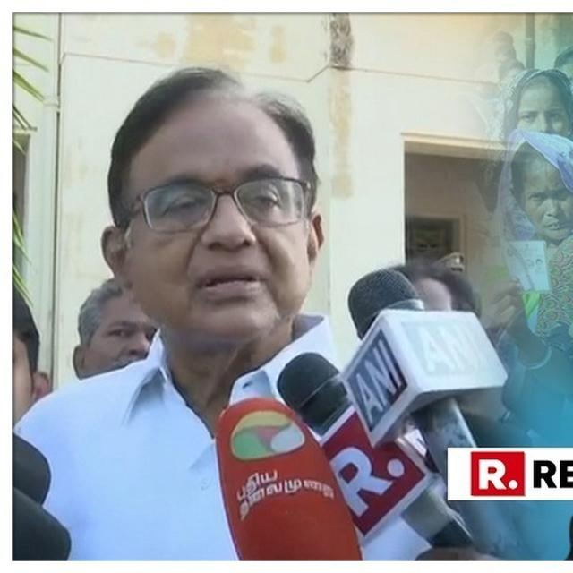 """WATCH: """"TAMIL PEOPLE WANT CHANGE,"""" SAYS P CHIDAMBARAM AFTER CASTING VOTE FROM SIVAGANGA IN SECOND PHASE OF 2019 POLLS"""
