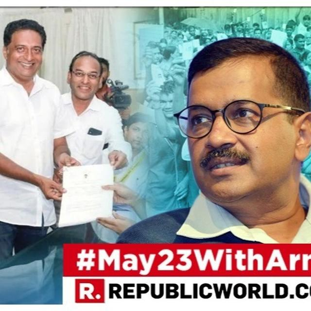 HERE'S WHY ARVIND KEJRIWAL IS BACKING PRAKASH RAJ FOR PARLIAMENT AS THE ACTOR CONTESTS PHASE 2 OF THE 2019 LOK SABHA POLLS