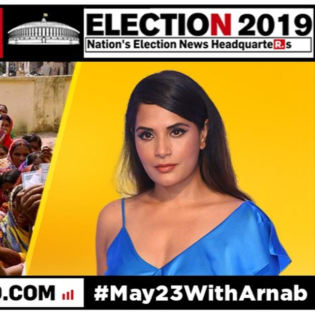 RICHA CHADHA TAKES A STAND ON BJP FIELDING SADHVI PRAGYA IN BHOPAL, GIVES NEW 'AB KI BAAR...' SLOGAN. READ HERE