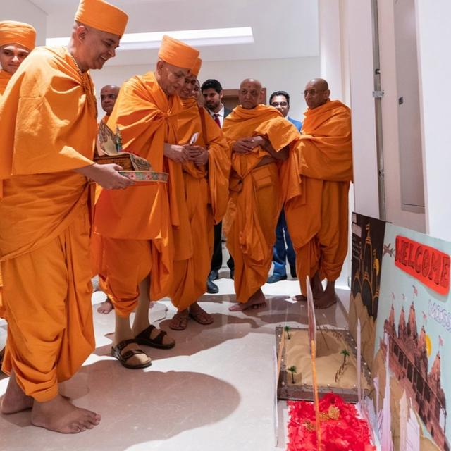 INDIANS REJOICE AS FOUNDATION STONE LAYED FOR FIRST HINDU TEMPLE IN ABU DHABI