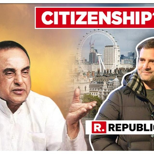 WATCH: SUBRAMANIAN SWAMY ON RAHUL GANDHI'S LOK SABHA ELECTION CANDIDATURE AFTER CONTROVERSY OVER HIS CITIZENSHIP, NAME & EDUCATION