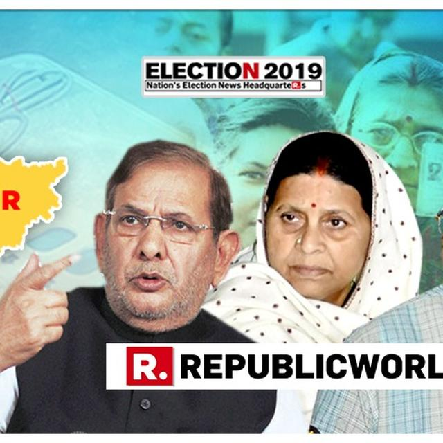 SHARAD YADAV BACKS RABRI DEVI'S ALLEGATIONS; SAYS 'THE GOVERNMENT IS AFRAID OF THOSE WHO FIGHT FOR SOCIAL JUSTICE'