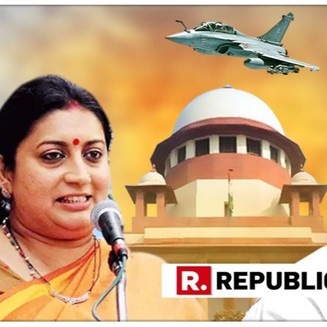 "SCATHING: ""ONE WHO CALLED CHOWKIDAR CHOR HAS ADMITTED HE'S A LIAR,"" SAYS SMRITI IRANI TEARING INTO RAHUL GANDHI'S SENSATIONAL SUPREME COURT ADMISSION ON RAFALE REMARKS"