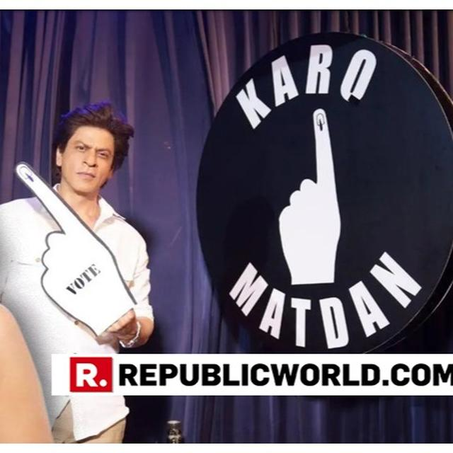 GAURI KHAN TAKES SHAH RUKH KHAN'S MESSAGE FORWARD AS HE CREATIVELY ANSWERS PM MODI'S CLARION CALL TO VOTE IN THE LOK SABHA ELECTIONS