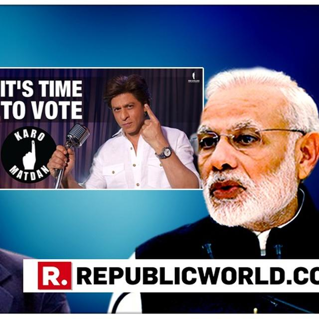 SHAH RUKH KHAN'S 'CREATIVE' VIDEO TO SPREAD 'VOTE FOR INDIA' AWARENESS GETS A BIG THUMBS UP FROM PRIME MINISTER NARENDRA MODI. READ HERE