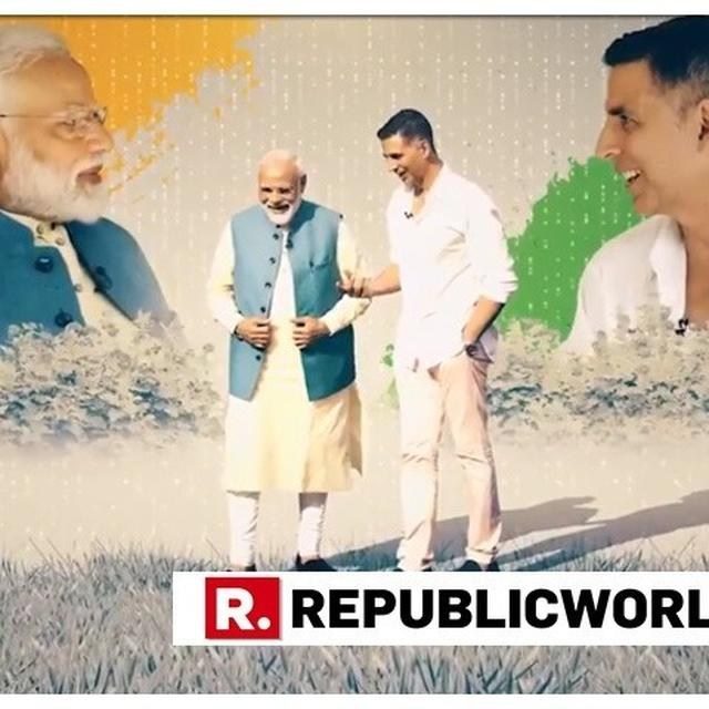 "WATCH: AKSHAY KUMAR INTERVIEWS PM NARENDRA MODI IN A ""COMPLETELY NON-POLITICAL CONVERSATION"""