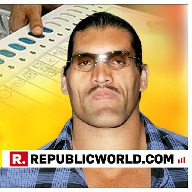 WWE SUPERSTAR WRESTLER THE GREAT KHALI TO CAMPAIGN FOR BJP IN KOLKATA. DETAILS HERE