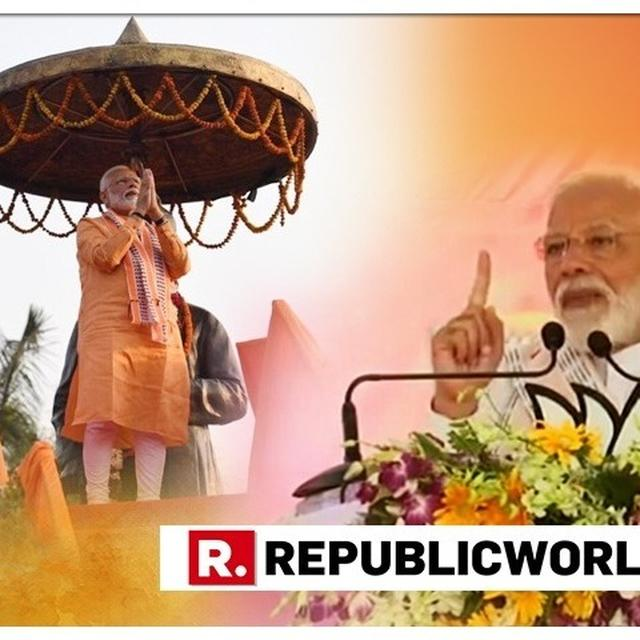 """""""KASHI IS ALREADY WON"""", SAYS PM MODI IN ADDRESS TO BJP CADRE AHEAD OF FILING HIS NOMINATION FROM VARANASI FOR LOK SABHA ELECTIONS 2019"""